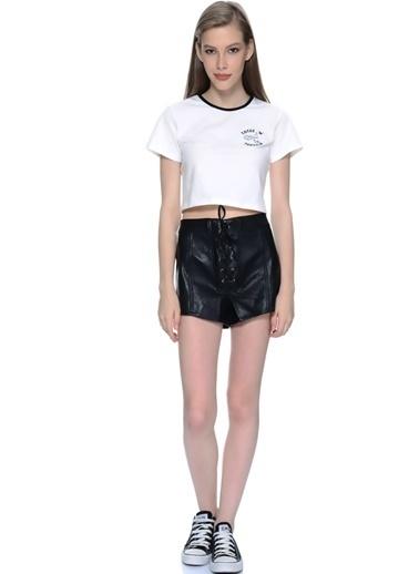 Mink Pink Kısa Pantolon Siyah